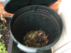 The composting in action
